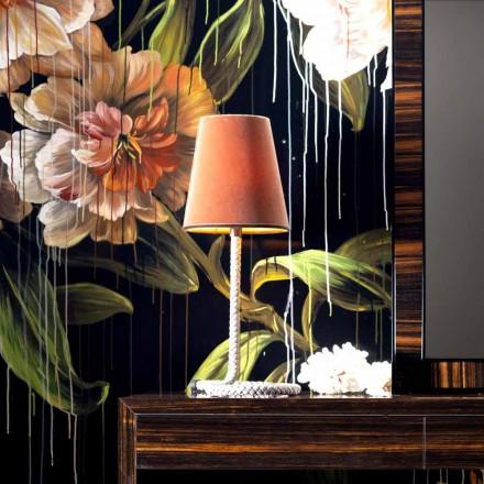 Pëlhurë e projektimit Grilli Snake dhe llambë tryeze lëkure e bërë në Itali