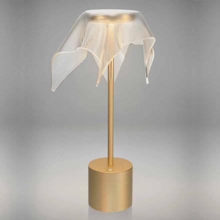 Llambë LED në Metali me Ngjyrë dhe Plexiglas me Prismatikë Transparente - Tagalong