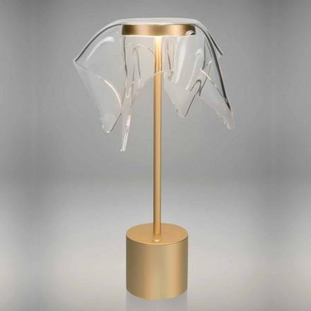 Llambë LED prekëse në metal me ngjyra dhe pleksiglas transparente - Tagalong