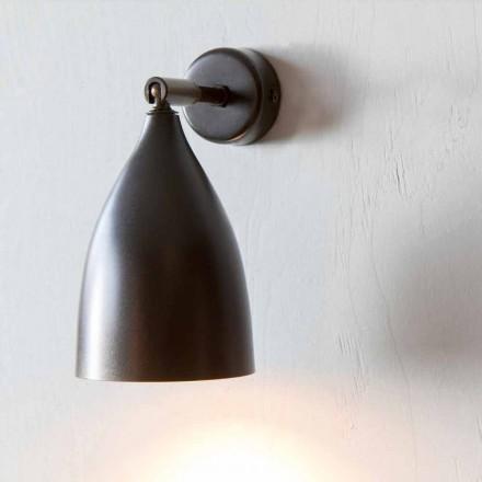Llambë muri artizanale në hekur dhe alumin prodhuar në Itali - Conica