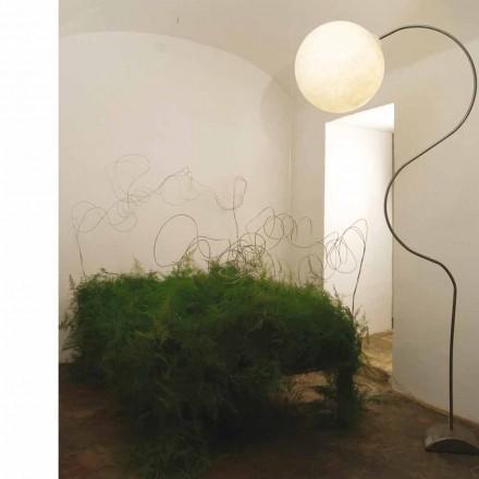 Nebulit i llambës moderne të dyshemesë së bardhë In-es.artesign Luna H210cm