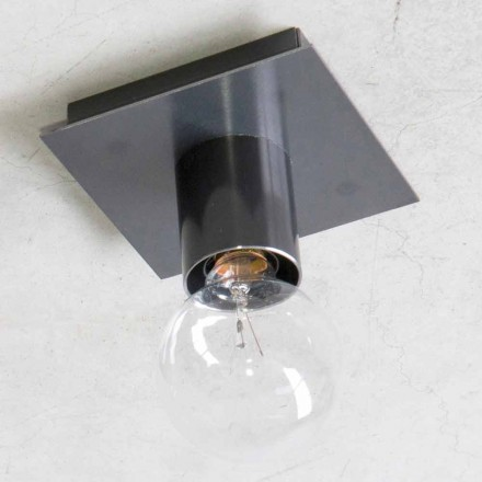 Llambë muri e punuar me dorë në hekur të zi ose korten prodhuar në Itali - Alabama
