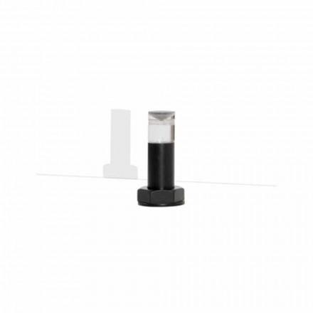 Llambë tavoline moderne në metal të zi dhe pleksiglas prodhuar në Itali - Dalbo