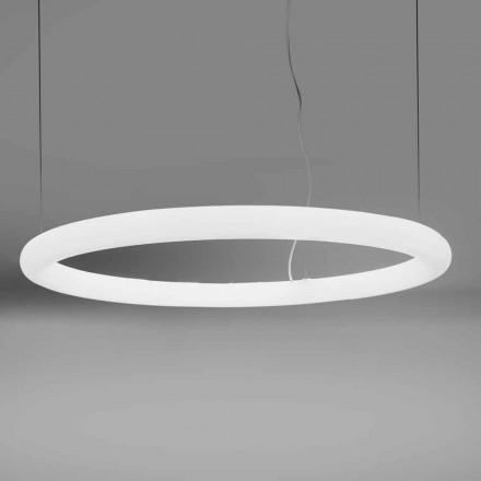 Llambë pezullimi LED e rrumbullakët në polietileni prodhuar në Itali - Slide Giotto