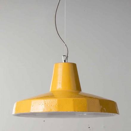 Llambë varëse 42 cm në bronz dhe maiolica toskan Rossi - Toscot