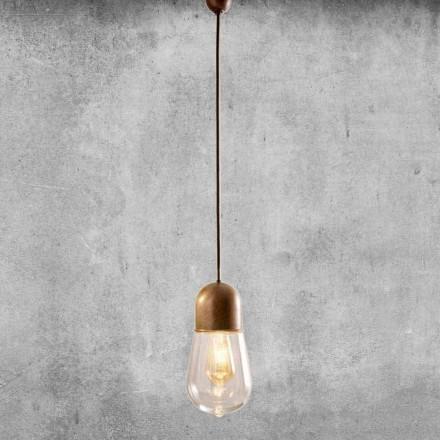 Llambë varëse për dizajn të cilësisë së mirë në bronz dhe gotë - Aldo Bernardi Guinguette