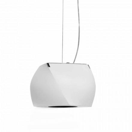 Llambë Design e Pezulluar në Metal dhe Rrëshirë të Bardhë Prodhuar në Itali - Pekin