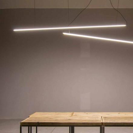 Llambë e Pezulluar e punuar me dorë në alumin me shirit LED të prodhuar në Itali - Ledda
