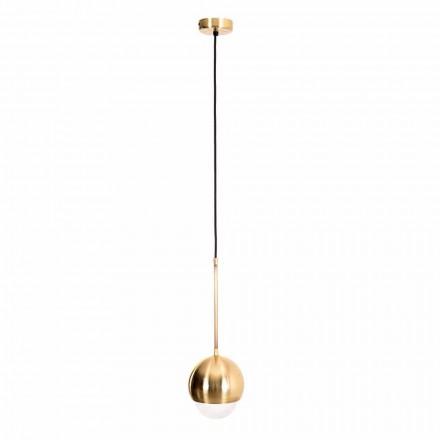 Llambë varëse e punuar me dorë në tunxh dhe gotë dekorative prodhuar në Itali - Gandia