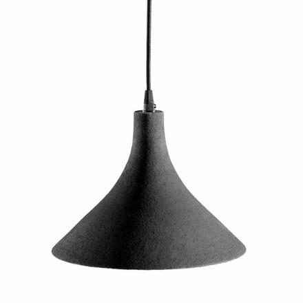 Llambë e Pezulluar në Gresi Anthracite dhe Dizajn Modern i Brendshëm i Bardhë - Edmondo