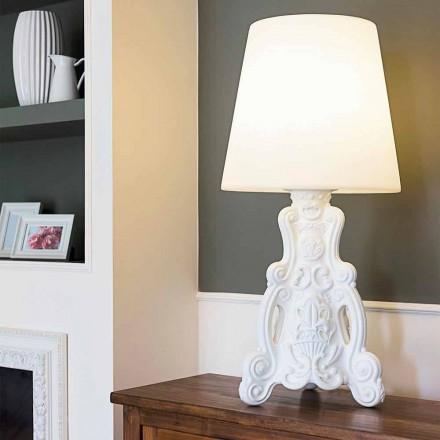 Dizajn modern llambë tavoline me ngjyra Slide Lady of Love, prodhuar në Itali