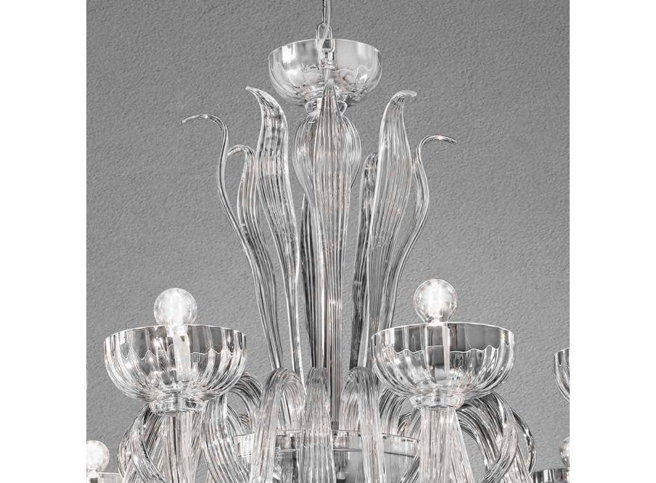 12 Llambadar qelqi venecian i punuar me dritë, i prodhuar në Itali - Regina