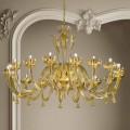 16 drita Llambadari prej qelqi dhe ari venecian, i punuar me dorë në Itali - Regina