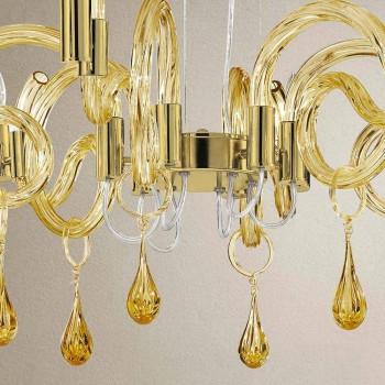 6 Llambadar qelqi Venecia i punuar me dorë i lehtë, prodhuar në Itali - Bernadette