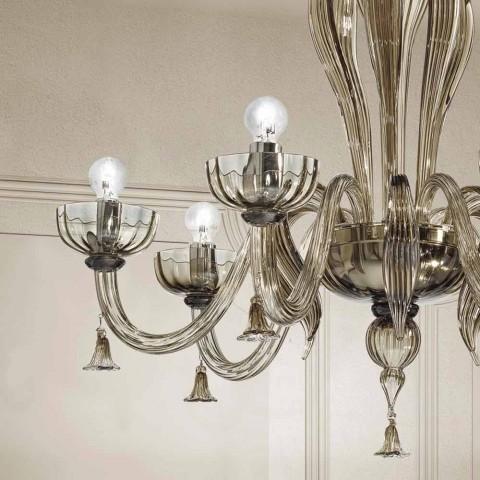 6 Llambadar qelqi i lehte venecian, i punuar me dorë në Itali - Regina