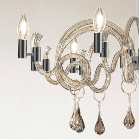 9 Llambadar qelqi Venecia i punuar me dorë i lehtë, prodhuar në Itali - Bernadette