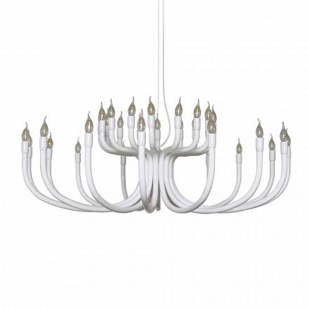 Llambadar pezullimi me 16 ose 32 drita në alumin të bardhë ose të zi - Alviso