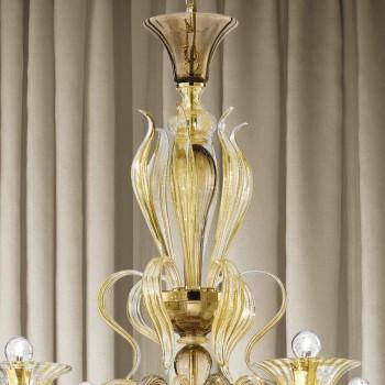Artizanal 6 Llambadar qelqi i lehte venecian Prodhuar ne Itali - Agustina