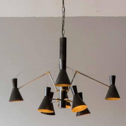 Llambadar i punuar me dorë me strukturë hekuri dhe alumini prodhuar në Itali - Selina