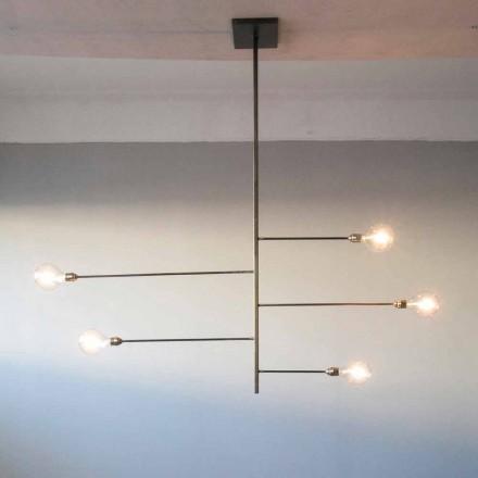 Llambadar artizanal i dizajnit me strukturë hekuri prodhuar në Itali - Tinna