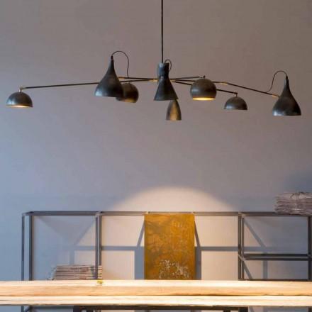Llambadar hekuri i punuar me dorë me hije alumini prodhuar në Itali - Verino