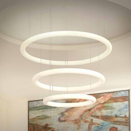 Llambadar i bardhë me dizajn LED me rozetë metalike prodhuar në Itali - Slide Giotto