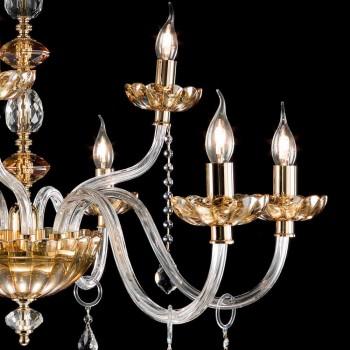 Llambadar klasik desgin me 9 drita xhami dhe daltë Belle