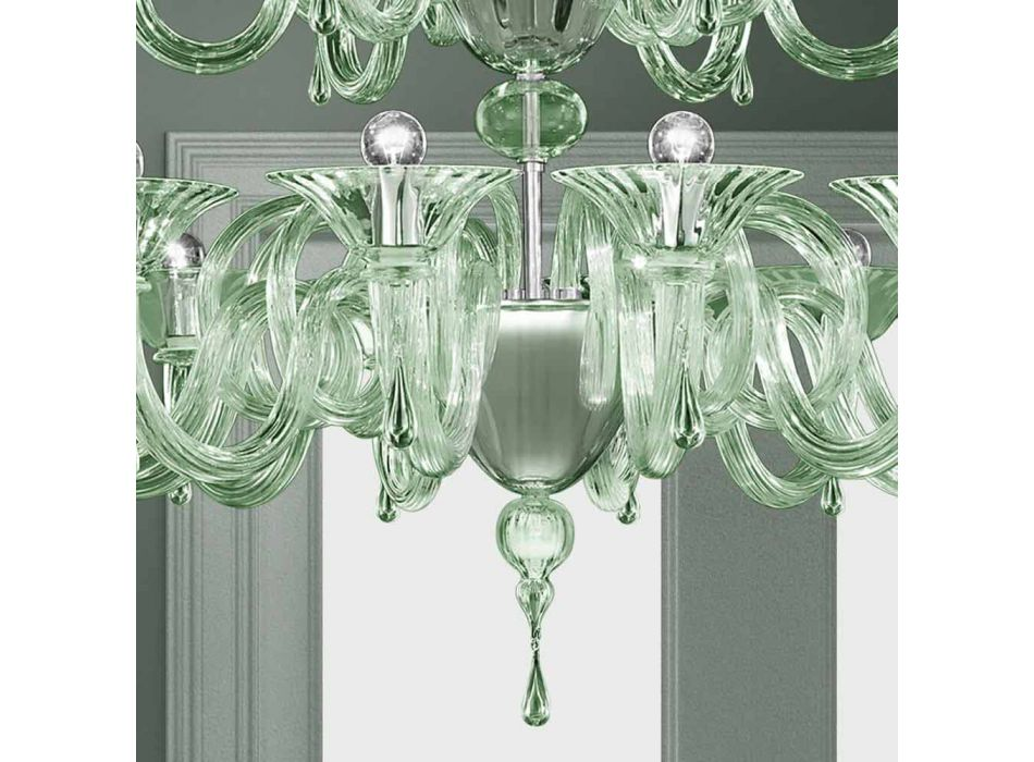 18 Dritat Llambadari qelqi venecian i punuar me dorë në Itali - Margherita