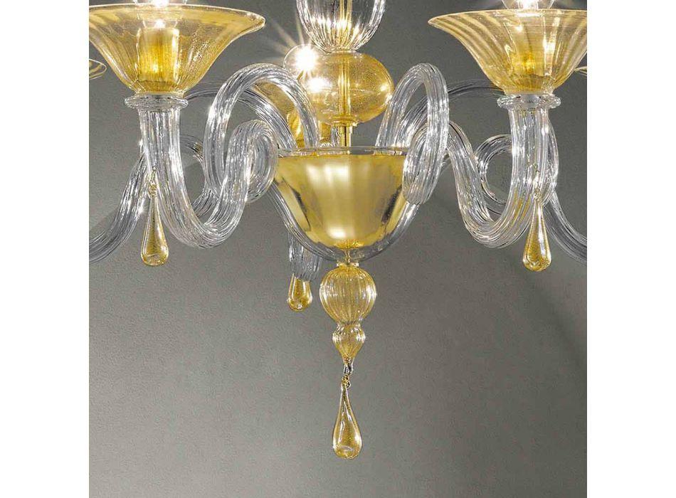 5 Dritat Llambadar qelqi Venecia, i punuar me dorë në Itali - Margherita