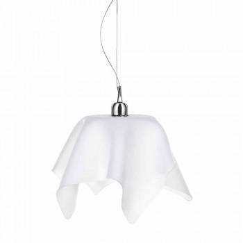 Llambadar i bardhë saten me draperi Dafne të bëra në Itali