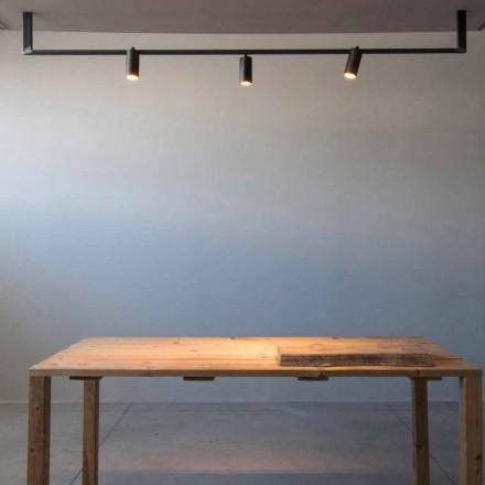 Llambadar me Dizajn Modern, i punuar me dorë në hekur të zi Prodhuar në Itali - Pamplona