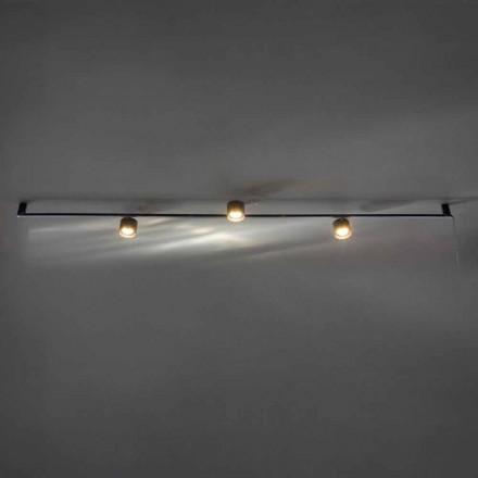 Llambadar Artizanal i Dizajnit me 3 Drita të Rregullueshme Prodhuar në Itali - Pamplona