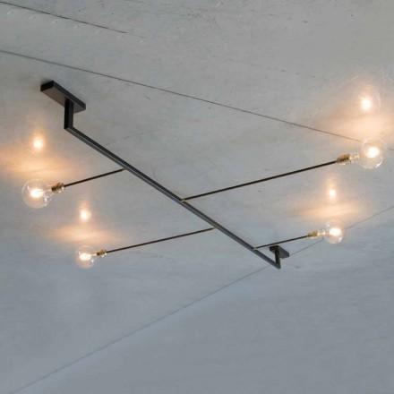 Llambadar i punuar me dorë në hekur me 4 drita të prodhuara në Itali - Anima