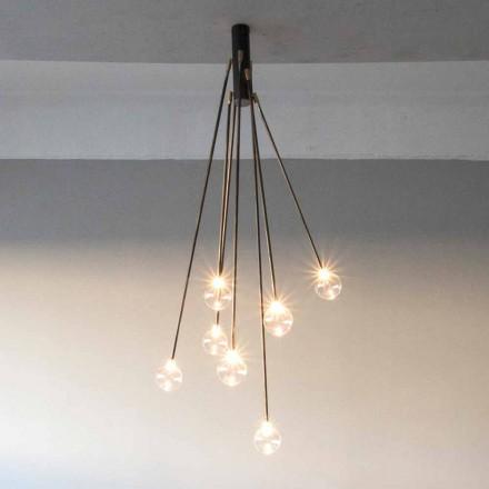 Llambadar i punuar me dorë nga hekuri me 7 drita të prodhuara në Itali - Ombro