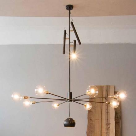 Llambadar artizanal modern me strukturë hekuri prodhuar në Itali - Stilla