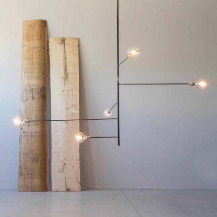 Llambadar modern i punuar me dorë me strukturë hekuri prodhuar në Itali - Tinna
