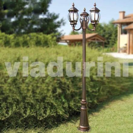Llamba me dy drita në natyrë e bërë me alumin, e bërë në Itali, Anika