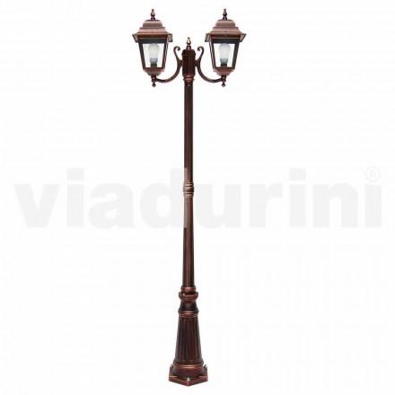 Llamba me dy drita në natyrë e bërë me alumin, e bërë në Itali, Aquilina