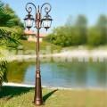 Llamba e kopshtit me tre drita të bëra me alumin, e bërë në Itali, Kristel