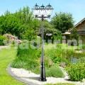 Llamba me tre drita kopshtesh klasike të bëra me alumin, Kristel