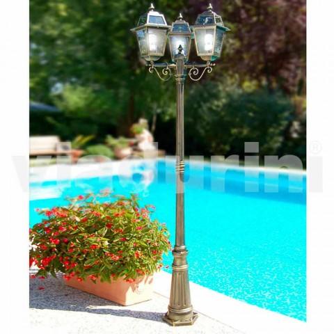 Kristel, llambë kopshti klasike me tre drita të bëra në Itali