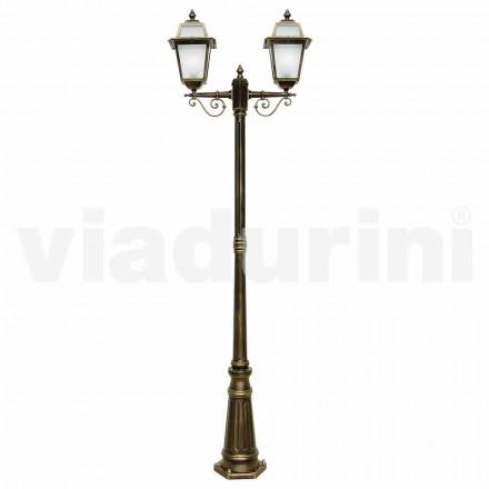 Llamba me dy drita në natyrë e bërë me alumin, e bërë në Itali, Kristel