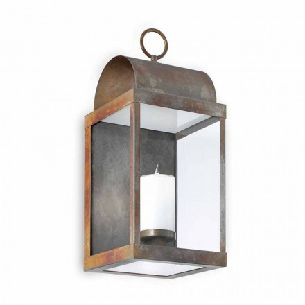 Prodhuar në Itali fanar i murit në natyrë i bërë prej bronzi dhe hekuri