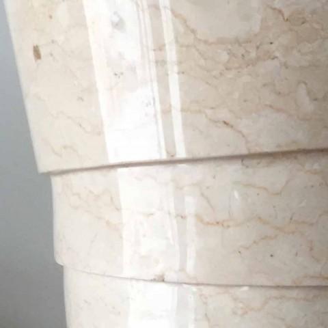Dizajn lavaman banjo në gur të bardhë Brent, copë unike