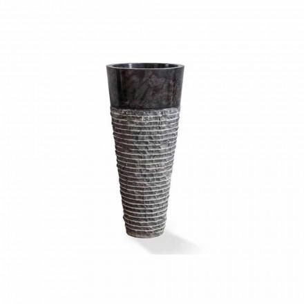 Lavaman kolone i dizajnit modern në mermer të zi me shkëlqim - Merlo