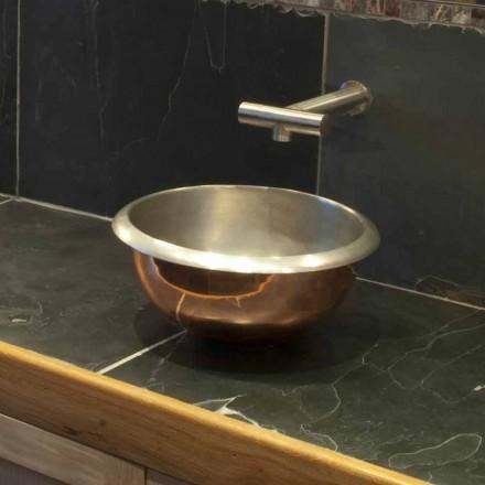 Dizajn banjoje countertop bërë nga bakri i Pastër