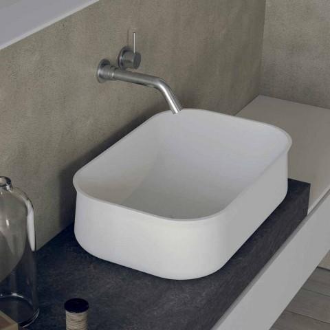 Banjë me banjë të bardhë drejtkëndëshe Counter Top Design - Tulyp2