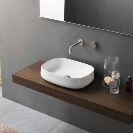 Modeli i lavamanit qeramik Countertop i Bardhë i Projektuar Moderne Prodhuar në Itali - Tune2