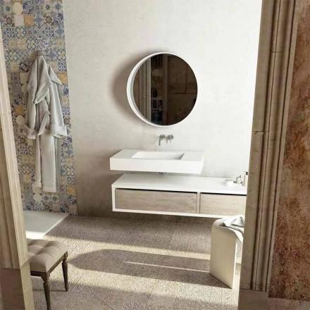 Top me lavaman qendror të integruar për banjo Gemona, e bërë në Itali
