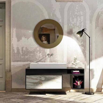 Top banjo me një lavaman të integruar qendror në Luxolid Voghera
